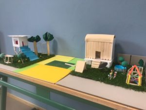 Architekturmodelle beim Weekendschool Workshop