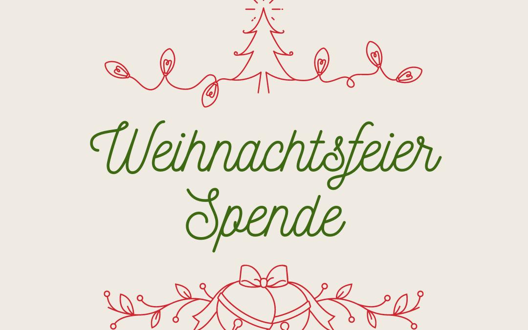 Anstatt Weihnachtsfeier: Spenden für die Zukunft
